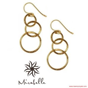 Kate Middleton Style Mirabelle jewellery Lolita Gold Plated Loop Earrings  www.newmyroyals.com