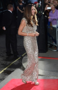 Kate, The Duchess of Cambridge arriving at the Tusk Ball, London.
