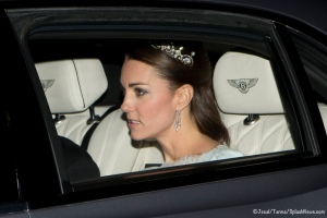 TRH The Duke and Duchess of Cambridge are seen leaving Kensington Palace for the Diplomatic reception at Buckingham Palace. Byline must read: Jesal/Tanna Pictured: Kate Middleton Ref: SPL653300 031213 Picture by: Jesal / Tanna / Splash News Splash News and Pictures Los Angeles:310-821-2666 New York: 212-619-2666 London: 870-934-2666 photodesk@splashnews.com