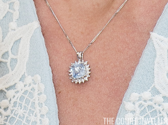 Cushion cut aquamarine and diamond pendant necklace kate photo credit photo credit jeff spicergetty images aloadofball Image collections
